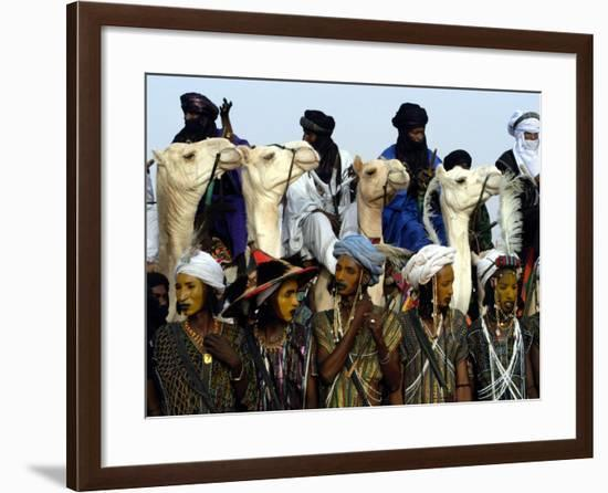 A Wodabe Man Waits to Perform a Dance of Male Beauty at a Festival in Ingall, Niger, Sept. 25, 2003-Christine Nesbitt-Framed Photographic Print