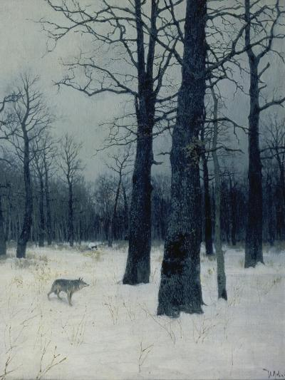 A Wolf in a Forest in Winter, 1885-Isaak Iljitsch Lewitan-Giclee Print