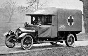 A Wolseley Ambulance Presented to the Birmingham Branch of the British Red Cross Society