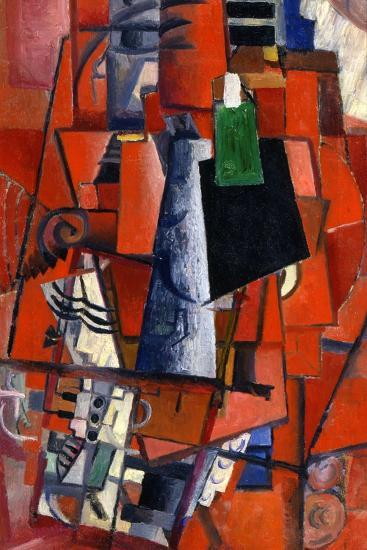 A Woman at the Piano, 1913-Kazimir Malevich-Giclee Print