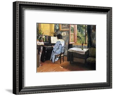 A Woman at the Piano-Félix Vallotton-Framed Giclee Print