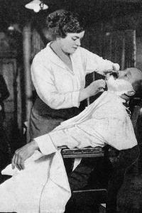 A Woman Barber, 1917