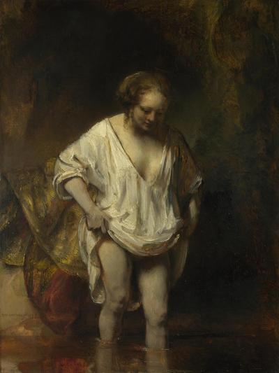 A Woman Bathing in a Stream (Hendrickje Stoffel), 1654-Rembrandt van Rijn-Giclee Print