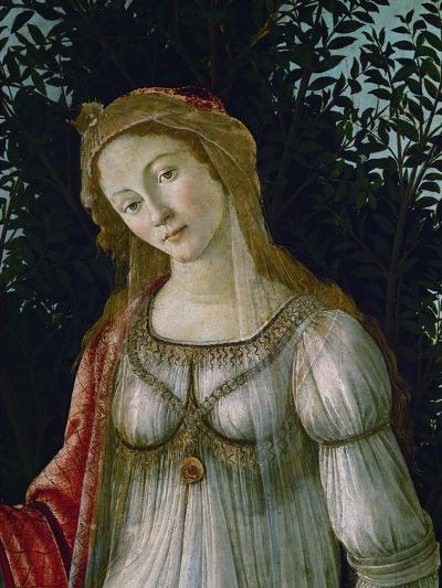 A Woman, Central Figure, Detail from Primavera-Sandro Botticelli-Giclee Print