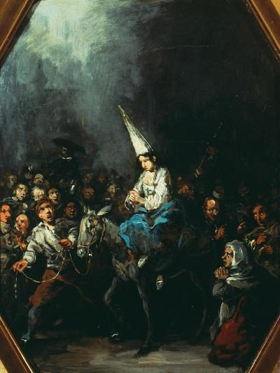 A Woman Condemned by the Inquisition-Eugenio Lucas y Padilla-Giclee Print