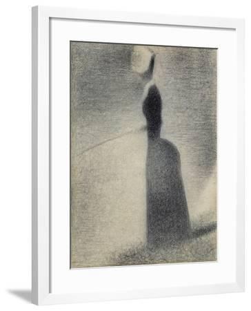 A Woman Fishing, 1884-Georges Seurat-Framed Giclee Print