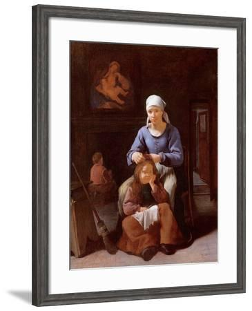 A Woman Grooming Her Child's Hair-Michael Sweerts-Framed Giclee Print