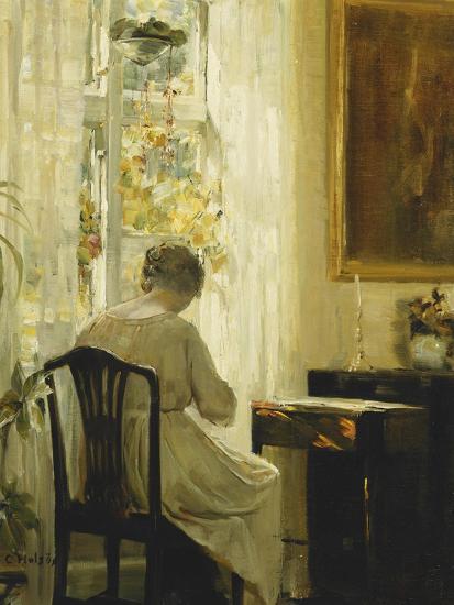 A Woman in an Interior-Carl Holsoe-Giclee Print