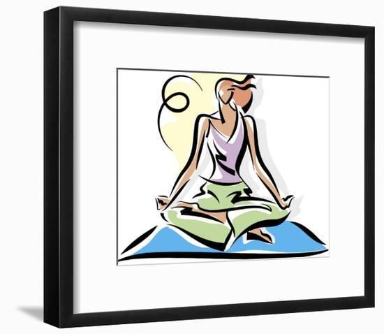 A Woman Meditating--Framed Art Print
