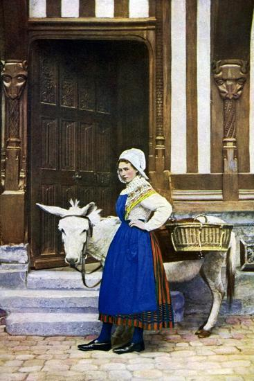 A Woman of Normandy, France, C1922--Giclee Print
