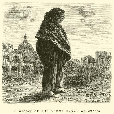 A Woman of the Lower Ranks of Cuzco-?douard Riou-Giclee Print