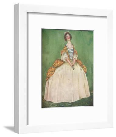 'A Woman of the Time of Queen Anne', 1907-Dion Clayton Calthrop-Framed Giclee Print