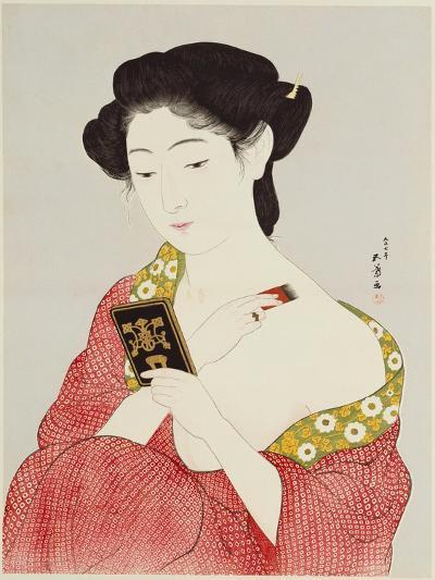 A Woman Powdering Her Neck-Ioki Bunsai-Giclee Print