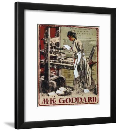 A Woman Prints Copies of the Declaration of Independence-Louis S. Glanzman-Framed Giclee Print