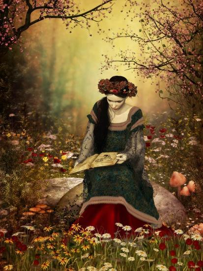 A Woman Reading A Book-Atelier Sommerland-Art Print