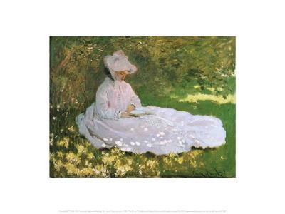 A Woman Reading-Claude Monet-Art Print