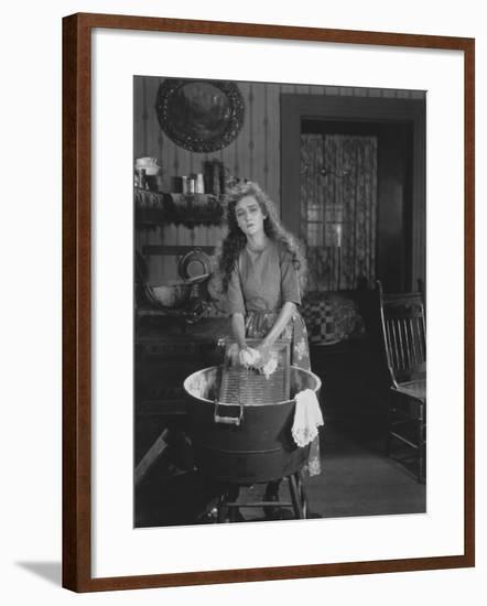 A Woman's Work is Never Done--Framed Photo
