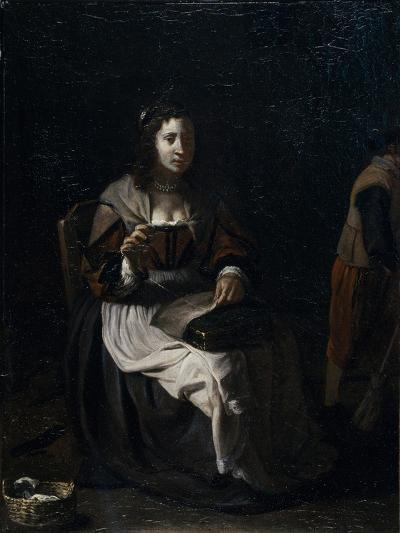 A Woman Sewing-Michael Sweerts-Giclee Print