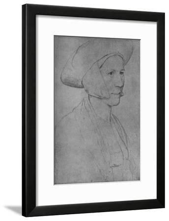 'A Woman: Unknown', 1526-1528 (1945)-Hans Holbein the Younger-Framed Giclee Print