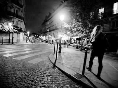 A Woman Walking at Night-Jorge Fajl-Photographic Print