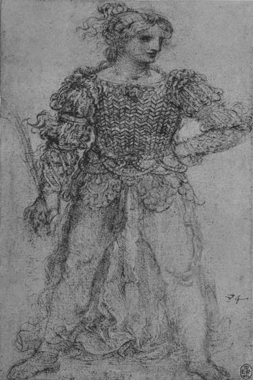 'A Woman Wearing a Bodice of Interlaced Ribbons', c1480 (1945)-Leonardo da Vinci-Giclee Print