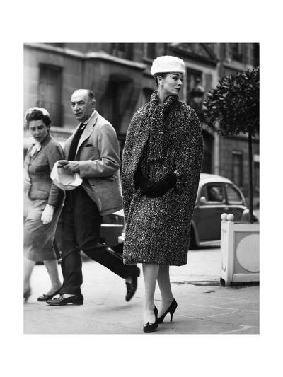 A Woman Wearing Christian Dior's Clothes--Photographic Print