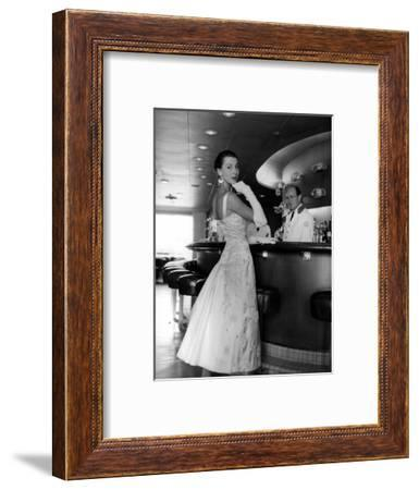 A Woman with Carosa's Clothes--Framed Photographic Print
