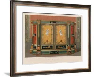 A Wood Cabinet by Levien, London--Framed Giclee Print