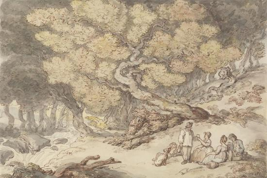 A Woodcutter's Picnic-Thomas Rowlandson-Giclee Print