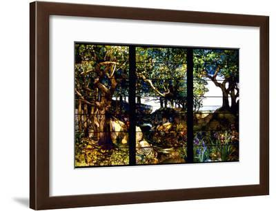 A Wooded Landscape in Three Panels, C. 1905-Louis Comfort Tiffany-Framed Photographic Print