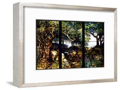A Wooded Landscape in Three Panels-Louis Comfort Tiffany-Framed Giclee Print