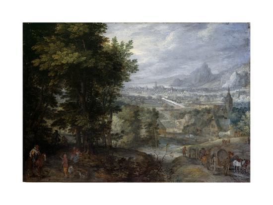 A Wooded Landscape-Jan Brueghel the Elder-Giclee Print