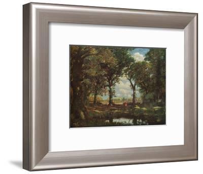 'A Woodland Pool', c1905-David Muirhead-Framed Giclee Print