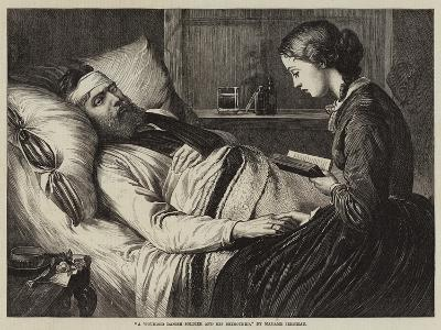 A Wounded Danish Soldier and His Betrothed--Giclee Print