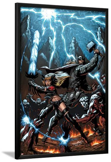 A+X #11 Cover: Thor, Magik-Mark Texeira-Lamina Framed Poster