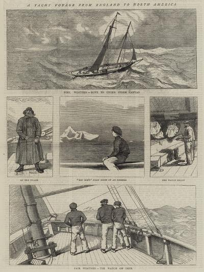 A Yacht Voyage from England to North America--Giclee Print
