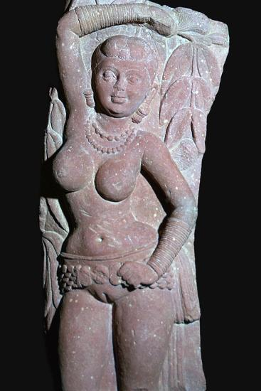 A yakshi (tree-goddess) from a Jain Stupa, 2nd century. Artist: Unknown-Unknown-Giclee Print