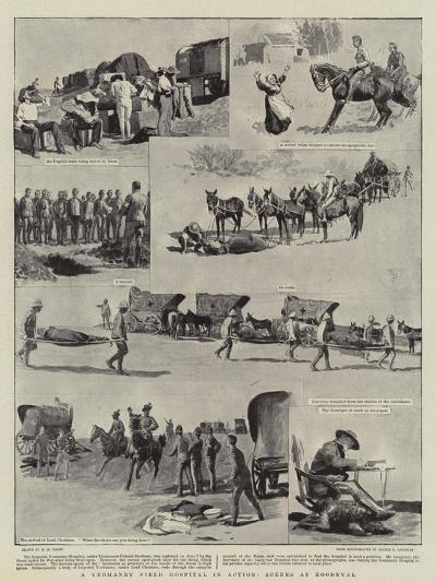 A Yeomanry Field Hospital in Action, Scenes at Roodeval-Henry Marriott Paget-Giclee Print