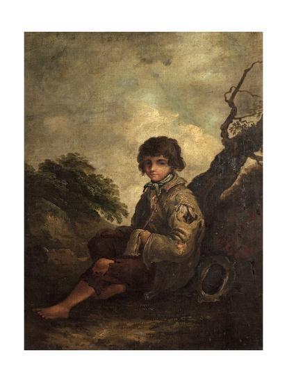 A Young Ballad Singer-Thomas Barker-Giclee Print