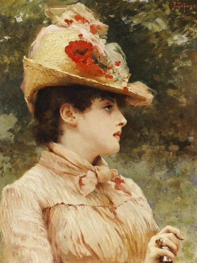 A Young Beauty-Eduardo Tofano-Giclee Print