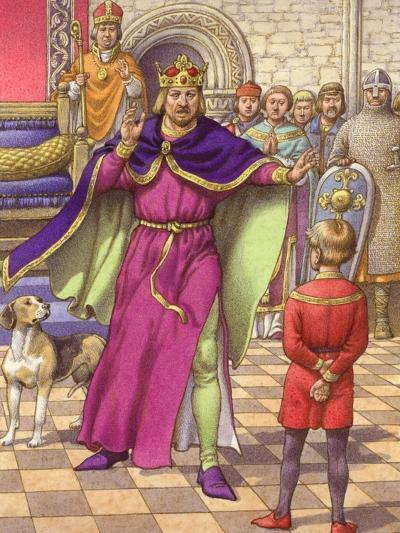 A Young Boy Was Employed to Tell King Henry That His Son Was Dead-Pat Nicolle-Giclee Print