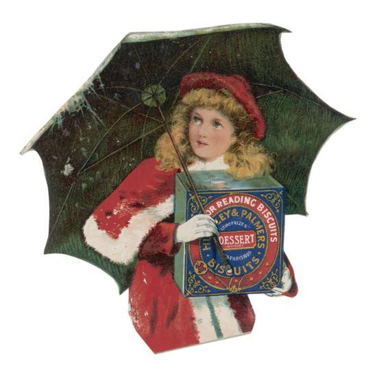 A Young Girl Ventures Out at Christmas to Buy a Box of Huntley and Palmer Dessert Biscuits--Giclee Print