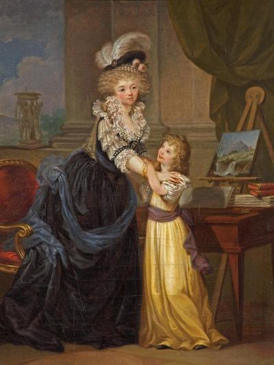 A Young Lady and a Little Girl, C.1785-Marguerite Gerard-Giclee Print