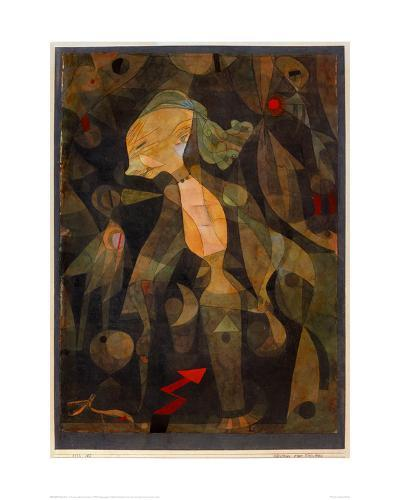 A Young Lady's Adventure, 1922-Paul Klee-Giclee Print