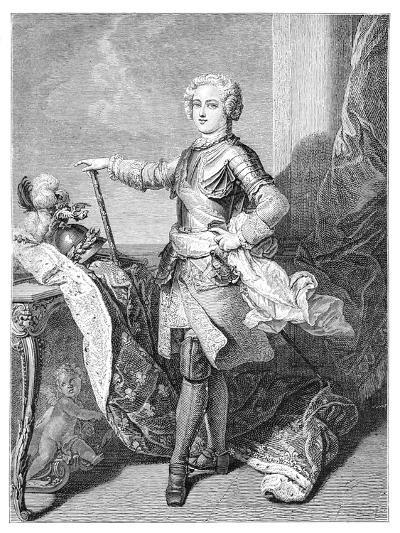 A Young Louis XV- Larmessin-Giclee Print