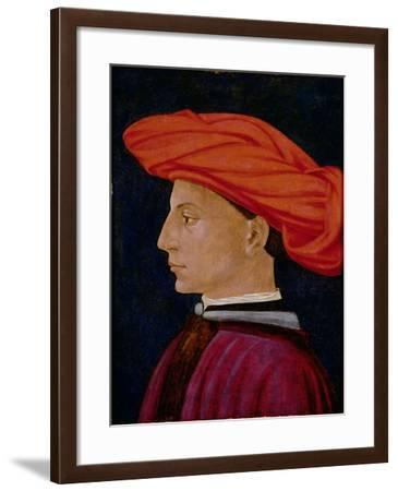 A Young Man in a Scarlet Turban, c.1425-27-Tomasso Masaccio-Framed Giclee Print