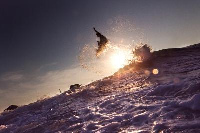 A Young Man Surfing on the Outer Banks of North Carolina-Chris Bickford-Photographic Print