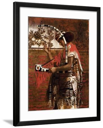 A Young Musician Employed in the Temple Service During the Feast of the Tabernacles-Simeon Solomon-Framed Giclee Print