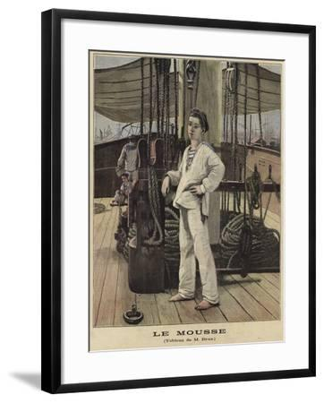 A Young Sailor on the Deck of a Ship--Framed Giclee Print