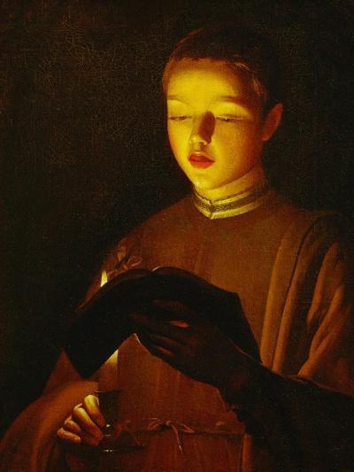 A Young Singer, circa 1645-1650-Georges de La Tour-Giclee Print
